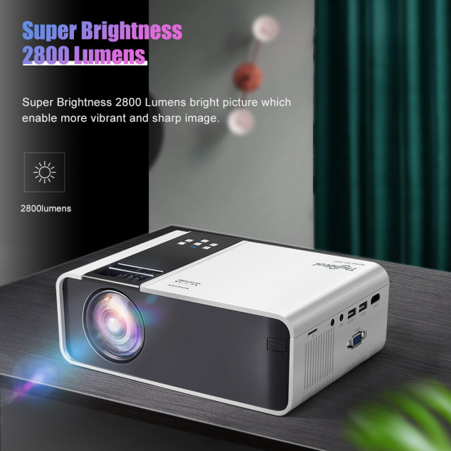 ThundeaL HD Mini Projector TD90 Native 1280 x 720P LED Android WiFi Projector Video Home Cinema 3D HDMI Movie Game Proyector 3