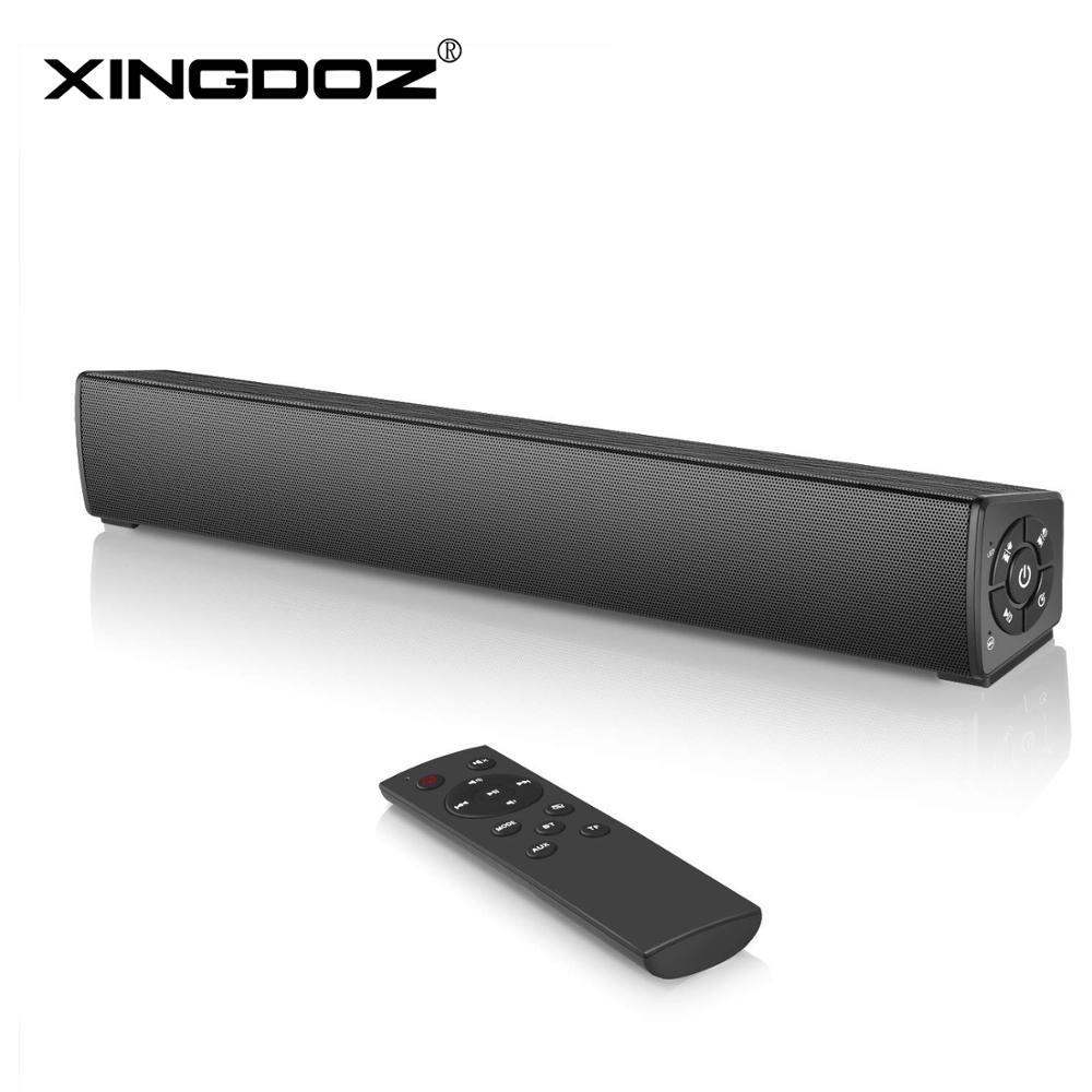 20W Soundbar Wired & Wireless Stereo Sound Bar,Rechargeable Bluetooth Speakers,Portable Mini Soundbar with Remote Control for PC