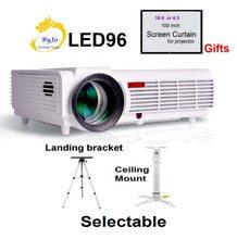 Светодиодный видеопроектор Poner Saund, 96 комплектов, 1280x800 Full HD 1080P, проектор для домашнего кинотеатра, 3D проектор BT96