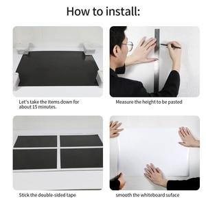Image 5 - Hold magnets Adhesivo de pared de pizarra blanca para oficina, pizarra blanca de escritura para pared, decoración del hogar, tablero Drwaing para Aprendizaje de chico grazhii