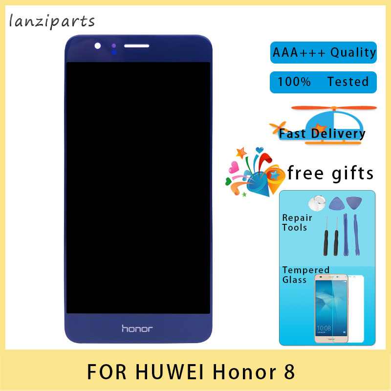 <font><b>Original</b></font> LCD for Huawei <font><b>Honor</b></font> <font><b>8</b></font> LCD <font><b>Display</b></font> Touch Screen with Frame Digitizer Assembly 5.2 inches for Huawei <font><b>Honor</b></font> <font><b>8</b></font> LCD image