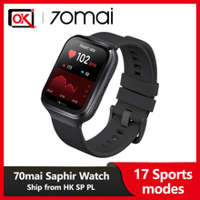 Heart-Rate-Monitor Watch 70mai Saphir Built-In Notification Bluetooth Waterproof 5ATM