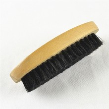 1 Pcs Wooden Handle Horse Hair Bristle Brush For Leather Boot Shoes Polishing Shoe Household Hot