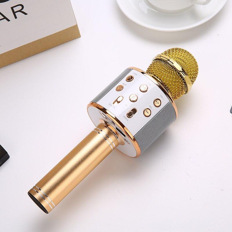 Waterproof Bluetooth Wireless Microphone Speaker Roreta WS858 Professional Handheld Karaoke Mic Music Player Singing Recorder
