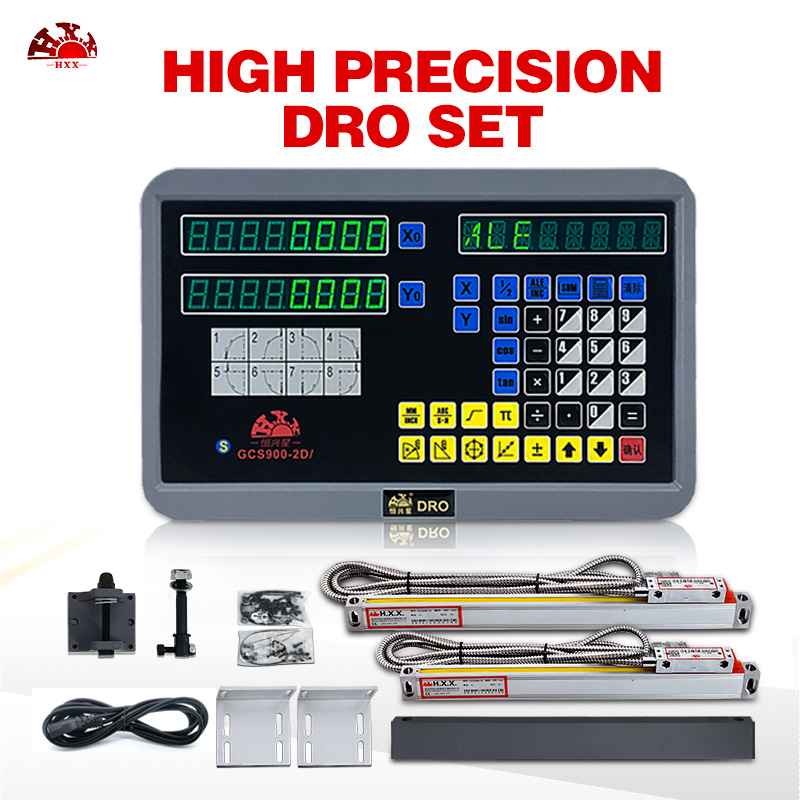 Two sets True ce certification hxx  GCS900 2D/     lcd dro digital readout with 50 1000mm linear scales Level Measuring Instruments     -