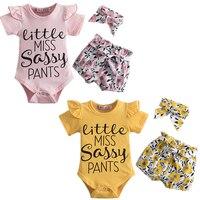 Conjunto de ropa para niñas pequeñas, pelele Floral, mono, pantalones cortos, trajes florales de 1 a 2 años, ropa de fiesta de cumpleaños de 12M