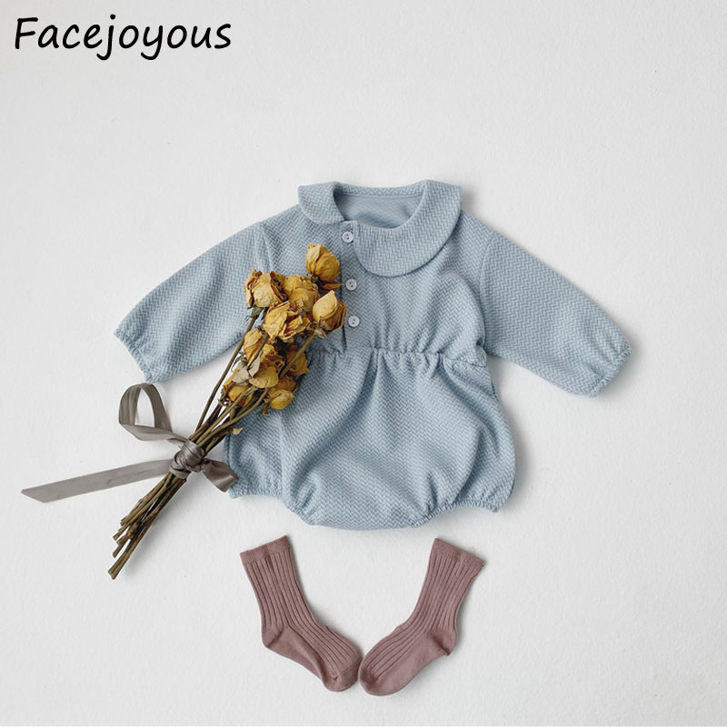 Baby Gilr Onesies 2020New Baby Soild Color Bodysuits Long-sleeved Cotton Clothes Infant Kids Body Suit Newborn Clothing Jumpsuit