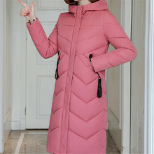 Korean Fashion Cotton-padded Jacket Winter Jacket Women Woman Parkas Hooded Long Coat Jackets Plus Size Winter Thick Slim Coats female winter jacket women hooded thicken ladies coats plus size korean fashion warm cotton padded long outerwear jackets hot