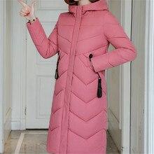Korean Fashion Cotton-padded Jacket Winter Jacket Women Woman Parkas Hooded Long Coat Jackets Plus Size Winter Thick Slim Coats все цены