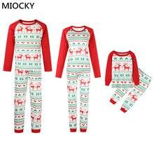 Family Matching Outfits Christmas Pajamas Set XMAS PJs Adult Kids Cute Party Nightwear Pyjamas Cartoon Deer Sleepwear E0290