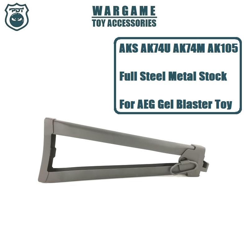 AEG Toy Accessories Parts Steel Full Metal AKS74 AK74U AK74M AK105 Stock For Airsoft JinMing J12 Gel Blaster