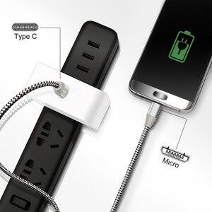 Fasgear USB C к Micro USB кабель для передачи данных зарядное устройство 3A USB кабель для Мобильный телефон Samsung Xiaomi Redmi Huawei зарядное устройство Шнур