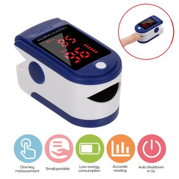 Oximetro de dedo Saturometro Monitor pulsoksymetr przenośny pulsoksymetr napalcowy tętno krwi tlen serca miernik nasycenia LED tanie i dobre opinie meterk CN (pochodzenie) Oximeter