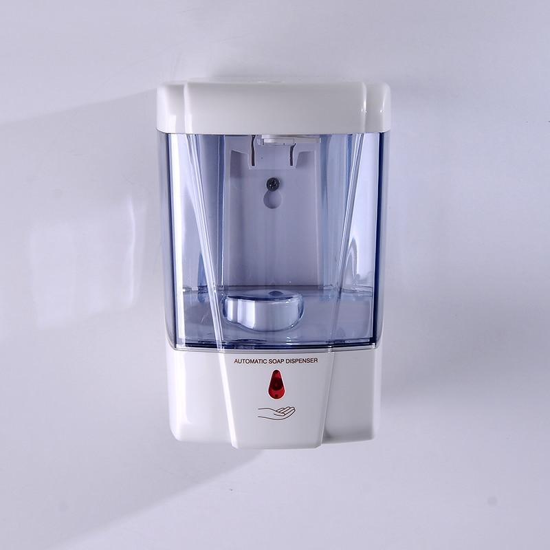 H281073c6ba1f438da9c608e204d1cf3f3 600ml Wall-Mount Automatic IR Sensor Touch Free Soap Dispenser Lotion Pump For Kitchen Bathroom Liquid Soap Dispenser