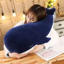 Большая синяя набивная подушка в виде Кита гигантская мягкая