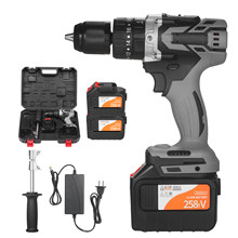 Cordless Drill Driver 200N.m 1/2In Metal Keyless Chuck 20+3 Position 0-1550RMP Variable Speed Impact Hammer Drill Screwdriver