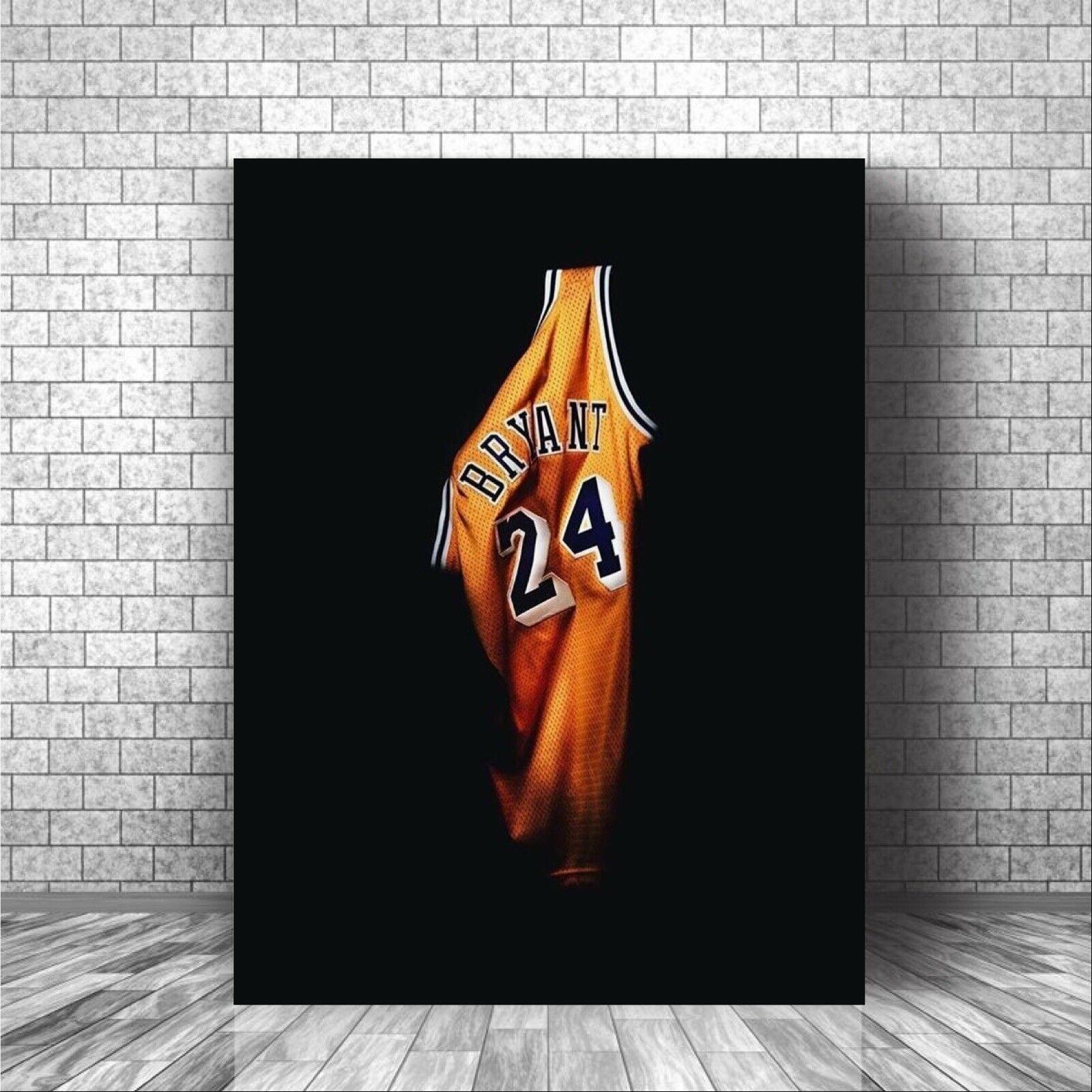 Kobe Bryant No.24 home jersey poster 1pcs Modern Home Wall Decor ...