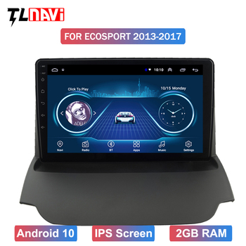 9 inch Android 10 Car GPS navigation stereo multimedia For EcoSport 2013-2017 DVD player headunit image