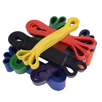Unisex Fitness 208cm Rubber Resistance Bands Yoga Band Pilates Elastic Loop Crossfit Expander Strength gym Exercise Equipment 3