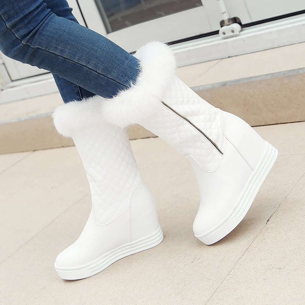JOUIR TALONS On Sale Sale 2020 PLUS Size 43 Platform Waterproof Snow Boots Woman Shoes Zip Up Add Fur Warm Winter Boots Female image