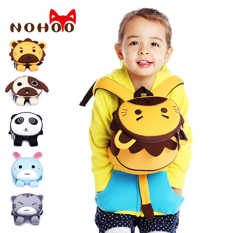 NOHOO Cartoon 3D Kids Bag For Girls Boys Lightweight Backpack Cute School Bags Travel Waterproof Kindergarten Mini New Backpacks