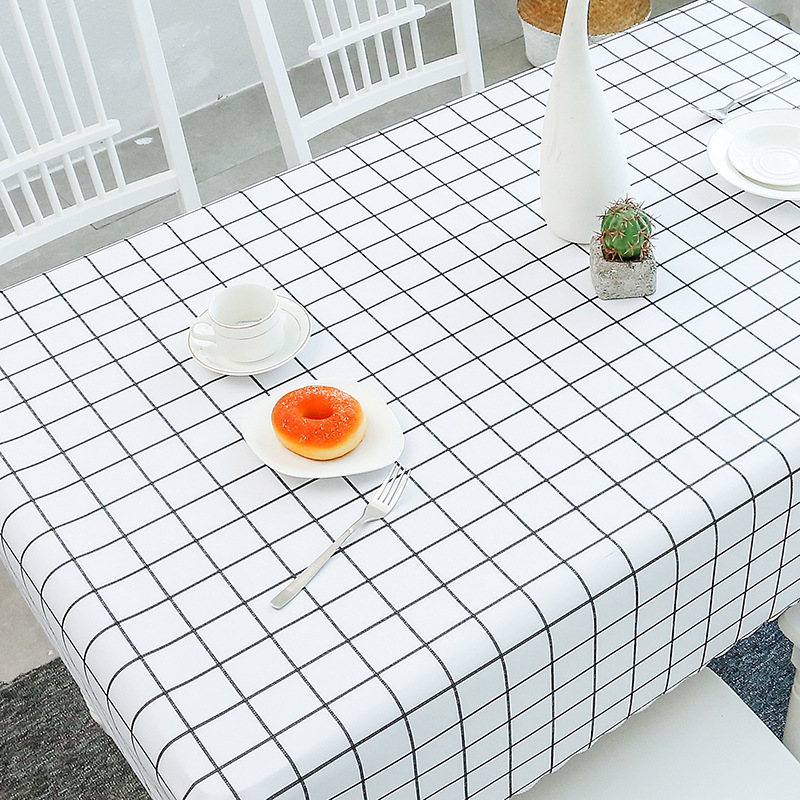 Pastoral PVC Waterproof Tablecloth Oilproof Rectangular Coffee Table Cushion Mahjong Table Cloth(China)