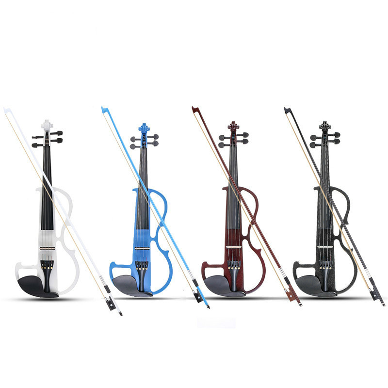 4/4 Original Sound Violin Linde Panel Stringed Instrument and Autumn Bow Headphones Resin Aluminum Alloy Strings