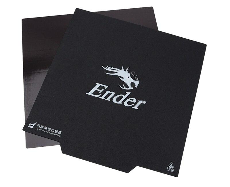 9.2 inç x 9.2 inç Ender-3 yazıcı parçası sihirli manyetik yapı yüzey yatak kağıt 3m etiketli etiket 235 x 235mm Ender-3
