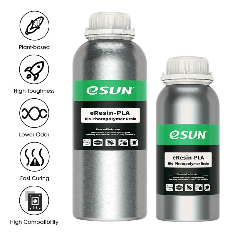 3D принтер eSUN, биоразлагаемая смола для фотонного УФ-отверждения, LCD 3D-принтер LCD UV 500 нм фотополимер, растительная 3d-смола г