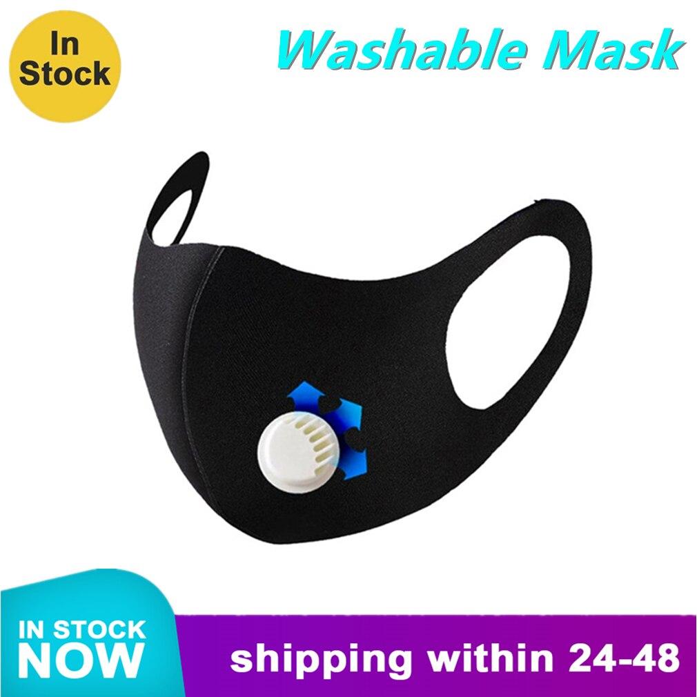 Washable Mask With Breathing Valve Spandex / Lycra Safety Masks Anti-Fog Anti-Dust Masks