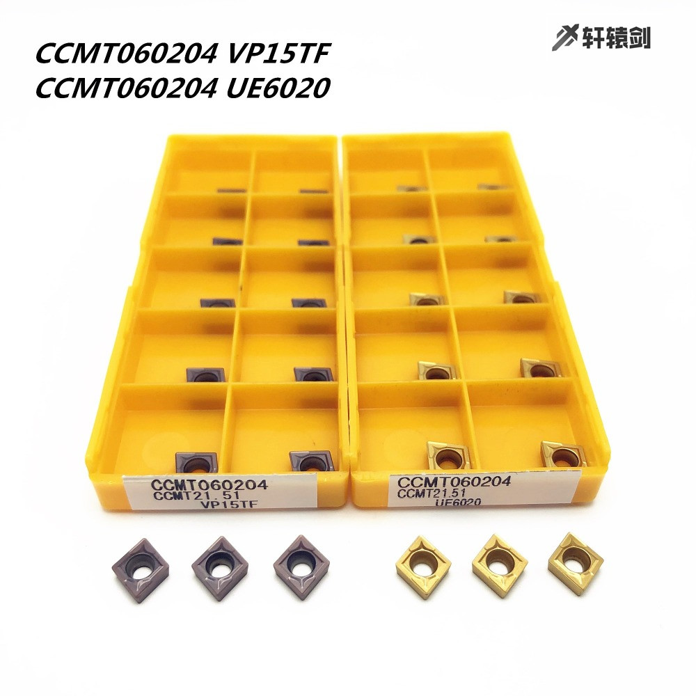 20pcs CCMT060204 VP15TF CCMT21.51 VP15TF Carbide Inserts lathe turning Inserts