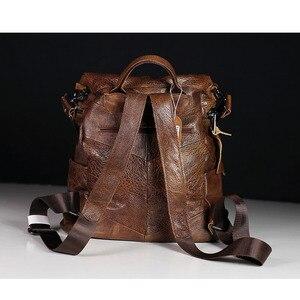 Image 3 - IPinee 패션 디자이너 여성 정품 가죽 배낭 어깨 학교 가방 틴 에이저 여행 소 가죽 여성 배낭
