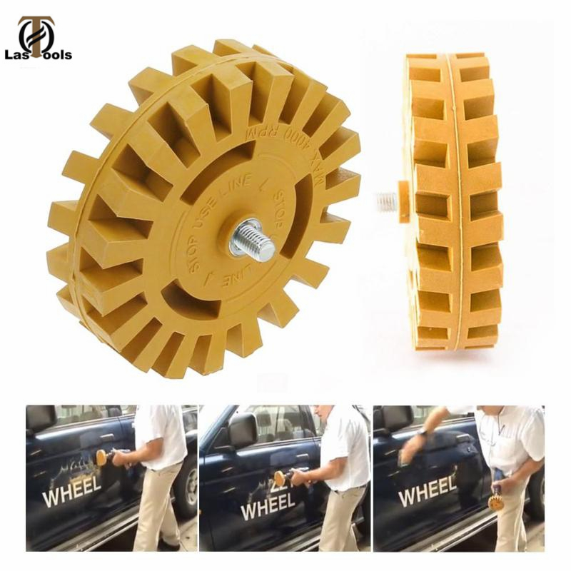 4 Inch 100MM Universal Rubber Eraser Wheel For Remove Car Glue Adhesive Sticker Auto Repair Paint Tool Pneumatic Degumming Disc