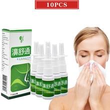 10 pces erva chinesa médica spray cura nasal rinite sinusite nariz spray ronco nariz spray fazer seu nariz mais confortável.