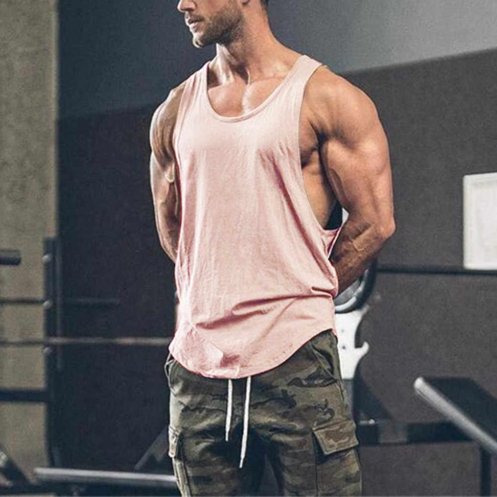 Męskie siłownie bez rękawów kulturystyka odzież sportowa Fitness mięśni bez rękawów bez rękawów mężczyźni podkoszulek wierzchnia kamizelka regata masculina