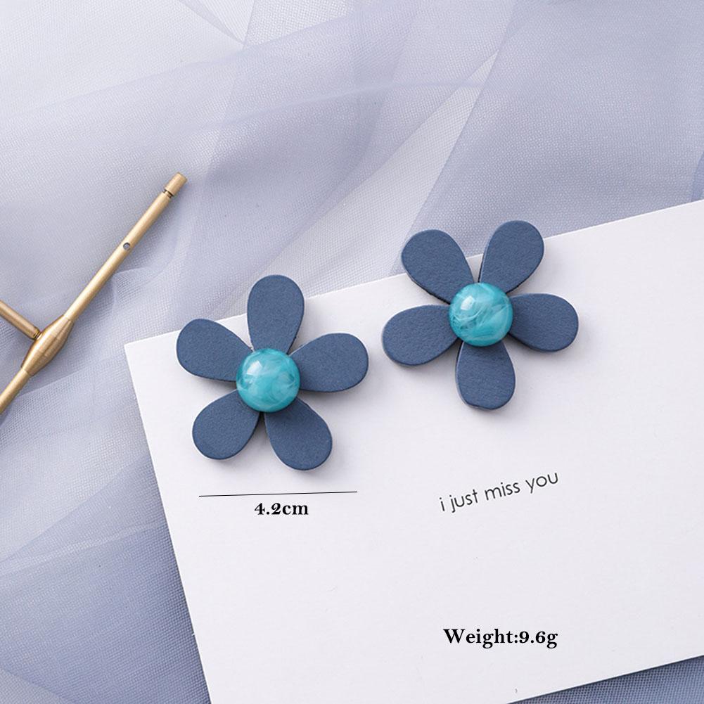 New Korean Scrub Acrylic Drop Earrings for Women 2019 Jewelry Fashion Resin Geometric Statement Earrings Bohemian Preferred Gift in Drop Earrings from Jewelry Accessories