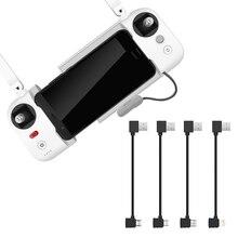 Cable de datos USB trenzado de nailon para control remoto FIMI X8 SE, transmisión USB a iOS/Android/tipo C, piezas para Dron xiaomi x8se