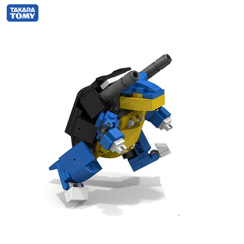 TOMY 208PCS+ Pokemon Blastoise Blocks Mini Action Figures Building Blocks Kids Toy Gift Compatible for Kid 2