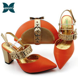 Shoes with Matching Bag for Wo