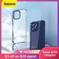 Baseus-funda de teléfono transparente para iPhone 12 Pro Max, cubierta trasera ultrafina, protección de lente