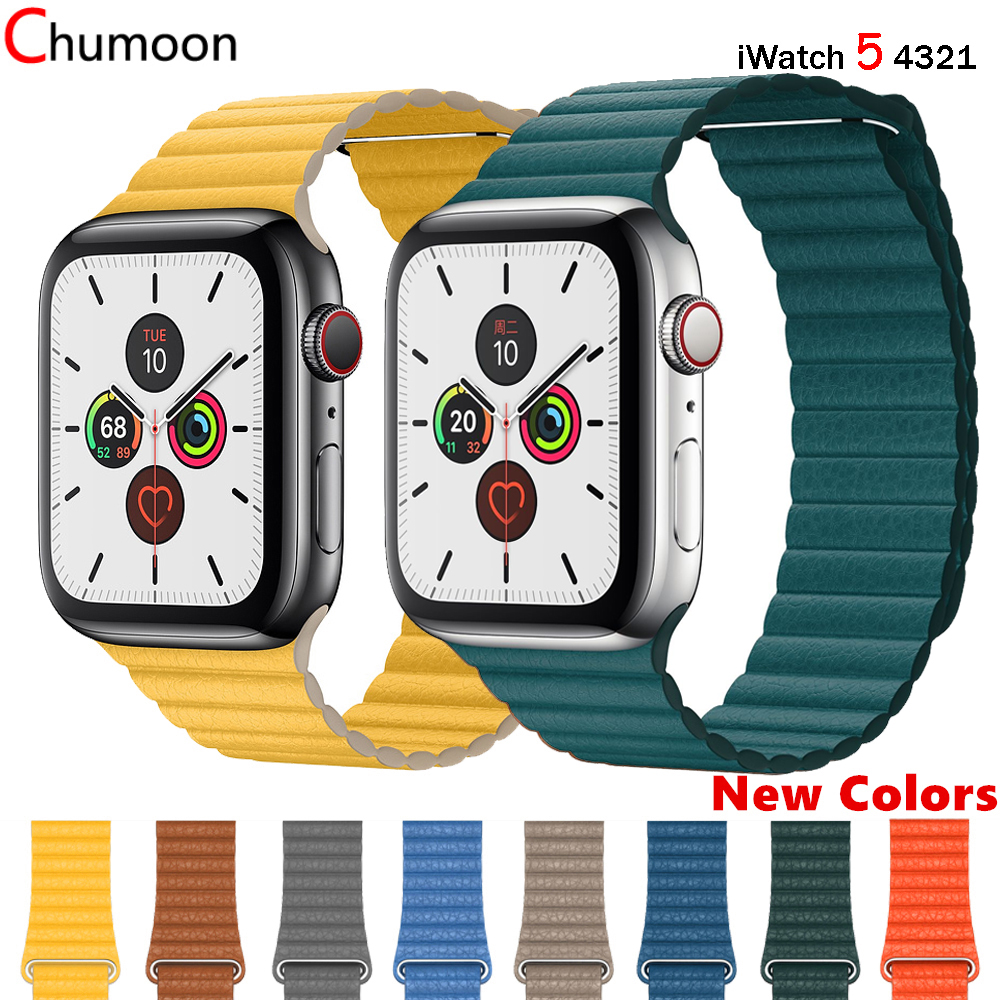 Leather Loop Strap For Apple Watch Band 44 Mm 40mm Iwatch Band 42mm 38 Mm Genuine Leathe Watchband Bracelet Apple Watch 5 4 3 44