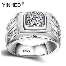 Yinhed Роскошное винтажное кольцо из 100% настоящего 925 пробы