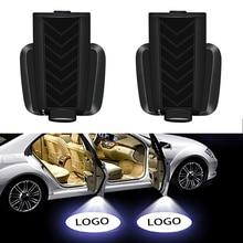 2 Chiếc Sạc Cửa Xe Ô Tô LED Hoan Nghênh Máy Chiếu Laser Logo Ma Bóng Đèn Ngủ Phụ Kiện Ô Tô Bóng Đèn Cho Xe Kia k2 K3