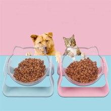 Нескользящая миска для кошек прозрачные миски кормления домашних