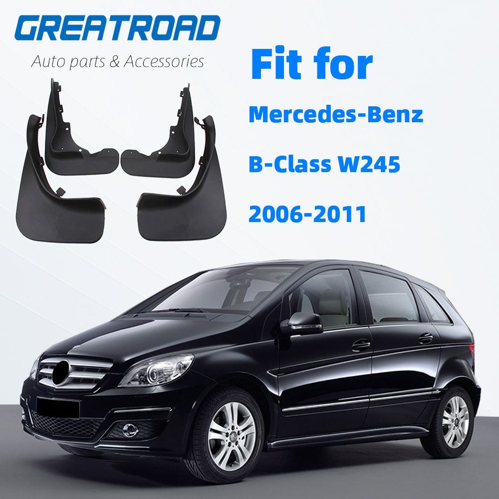 WEISHAN 4 PCS for Mercedes-Benz Clase B 2006 2007 2008 2009 2010 2011 Guardabarros Mudflaps Fender Guardabarros Mud Flaps Accesorios del Coche
