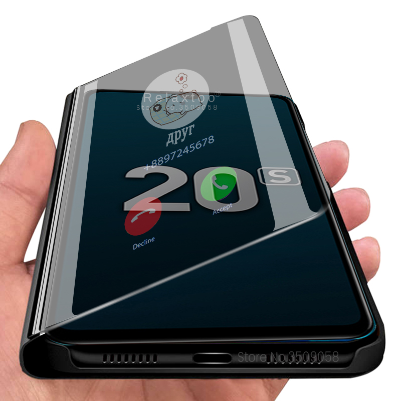 Smart Mirror Flip Case For Huawei Honer 20 s s20 MAR-LX1H