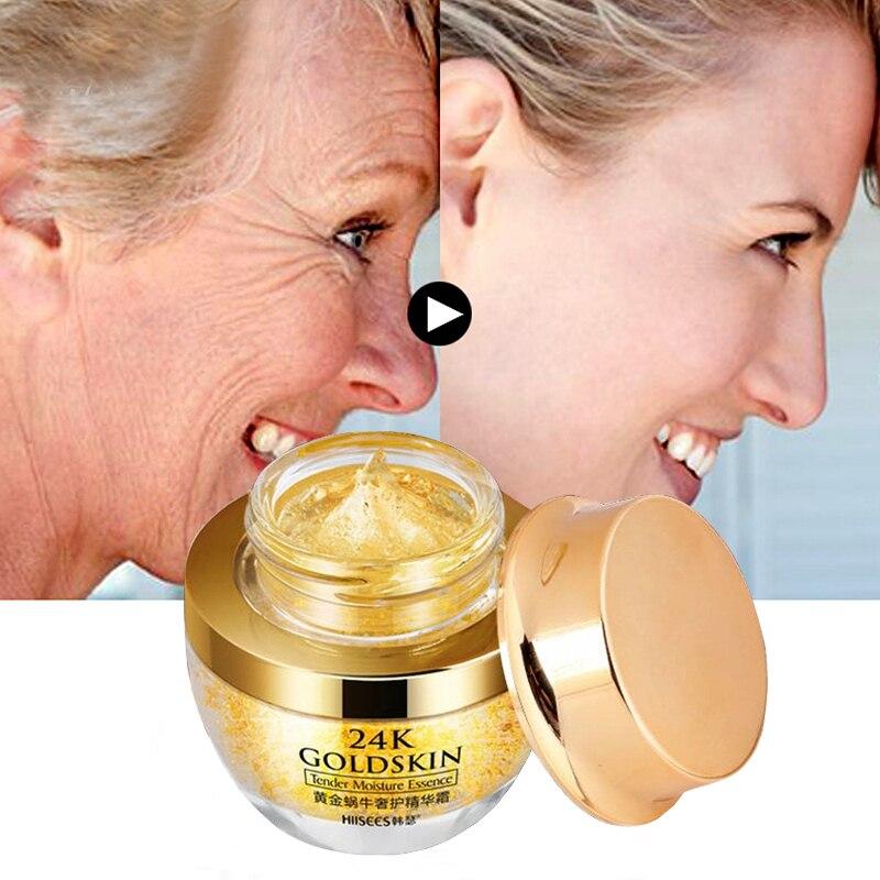 Face Cream For Dry Skin Care 24K Gold Snial Anti Wrinkle Argireline Collagen Anti-Aging Whitening Creams Moisturizing Korean M