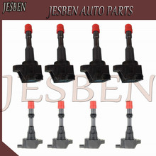 8PCS Front & Rear Ignition Coil 30520 PWA 003 30521 PWA 003 fit For Honda CITY Civic 7 8 VII VIII JAZZ FIT 2 3 III 1.2 1.3 1.4