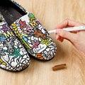 24 цвета, новая одежда, текстильные маркеры, тканевые ручки для рисования, DIY ремесла, футболка, пигментная живопись, ручка для письма, маркер, ...