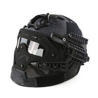Tactical PJ G4 System Helmet with Goggle Airsoft Fullface Overall Protective Face Mask CS Combat CS Military Hunting Helmet